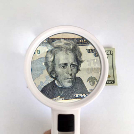 """LED Magnifier, 4.5x, 3.5"""" Inch, High Power Double Glass Lens"""