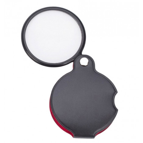"""4x, Classic Soft Case Folding Pocket Magnifier with 2.25"""" Glass Lens"""