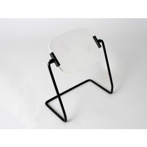 2.5x Table Stand Magnifier, Industrial Quality, Large Rectangular Rimless Lens