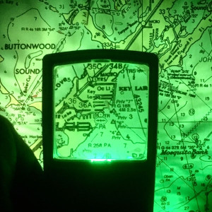 Pocket Magnifier, Green Light, Night Vision Aviation charts, 4x, MADE IN USA