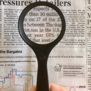 Professional Handheld Pocket Magnifier, Superior Quality 5x Aspheric Lens, MADE IN USA