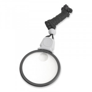 LK-10  3x, 6x Bifocal Necklace Magnifier