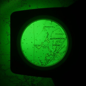 3x Green Light Stand Chart Magnifier, Green Light Preserves Night Vision, MADE IN USA