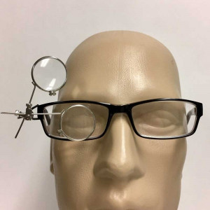 Clip on All Metal Watchmakers Loupe for Eyeglasses, 10x, 5x, 3.5x
