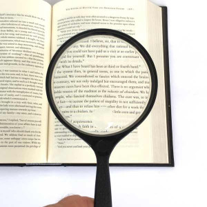 """Extra Large Handheld Reading Magnifier 4"""" Inch, 2.5x, 5x Bifocal Lens, Made in USA"""