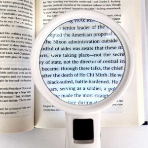 """LED Magnifier, 5x, 3.2"""" Inch, High Power Double Glass Lens"""