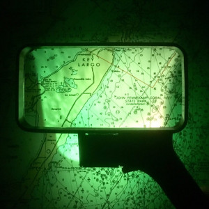Rectangular 3x Chart Magnifier, Green Light Preserves Night Vision, MADE IN USA