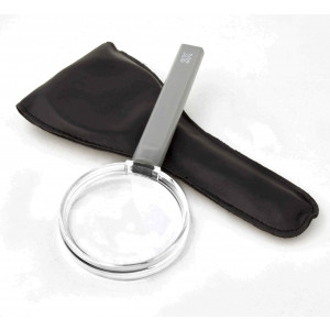 """Handheld Magnifier, with 3x 2.5"""" Lens, with Storage  Case"""