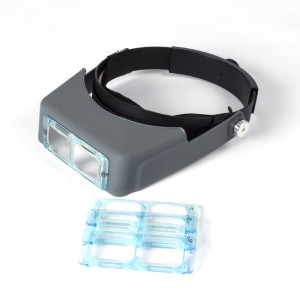Headband Magnifier Visor, Professional, with 4 Lens Set