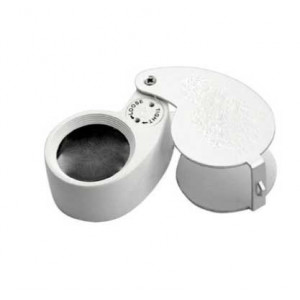 10x Jewelers Loupe, White,Value Priced, LED, 24mm Lens