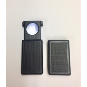 Value Priced 20x LED Jewelers Loupe with18mm lens, plastic pop up case and LED.