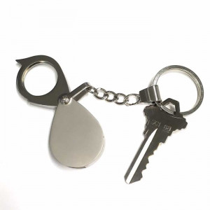 Keychain Magnifier, 5x Folding Pocket Magnifier, All Metal Construction
