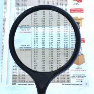 """Large 4"""" Handheld Magnifier with 2.5x Glass Lens"""
