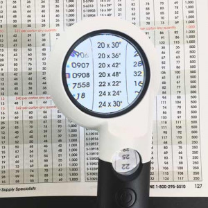 """Lighted Handheld Magnifier, 2"""" 5.5x, 10x, 8 LED's"""