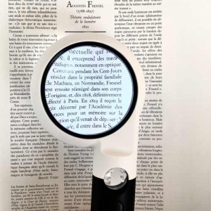 """Lighted Handheld Magnifier, 2.8"""", 4.5x, 10x, 2 Level High Contrast Illumination"""