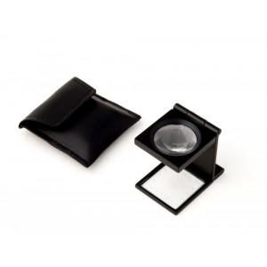 """6x Linen Tester with Precision Glass Measuring Reticle Magnifier, 6x 1"""" Lens"""