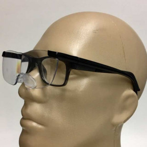 Close Viewing Magnifying Glasses, Large 2.5x Lenses, Can be worn over eyeglasses