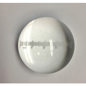 """Measuring Dome Measuring Magnifier,3.5"""" Inch, 3.7x, Measuring Reticle"""