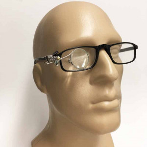 5x Clip on All Metal Watchmakers Loupe for Eyeglasses