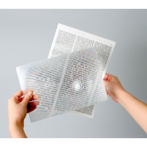 2x Full Page Magnifier,Fresnel Lens, Full Page Size Magnifier