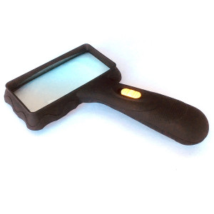 Rectangular Lighted Magnifier,2x Glass Lens, LED Reading Magnifier